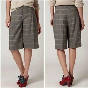 Cartonnier Anthropologie Grey Plaid Shorts sz 8